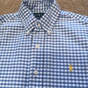 Ralph Lauren blue & white men's shirt, Small.